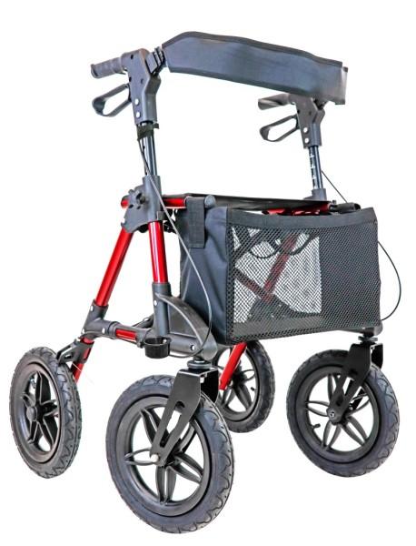 Outdoor Rollator Trendmobil SILVA mit Luftbereifung rot