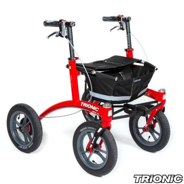 Rollator Trionic Walker 12er S in rot
