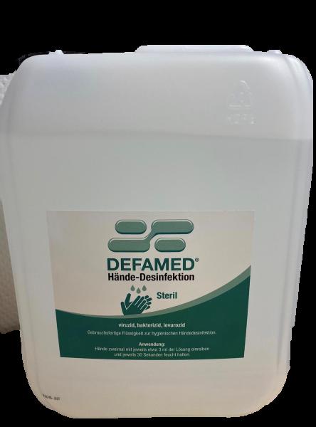 Händedesinfektionmittel Defamed-Steril viruzid 5 l Kanister