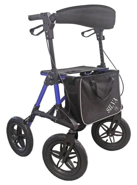 Outdoor Rollator Trendmobil SILVA mit Luftbereifung blau