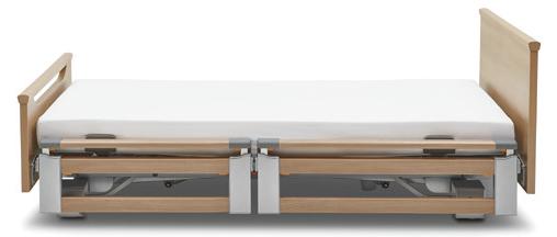 Seitensicherung Burmeier beidseitig geteilt, telekopierbar für Pflegebett Regia Easy Switch