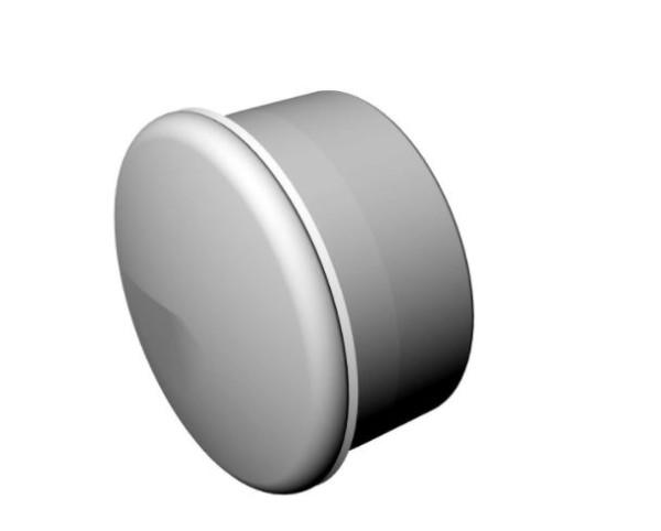 Abdeckkappe für Seitenrahmen vorn/hinten (Paar) für Rollator Dietz Taima
