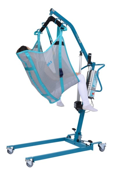 Komfortbadegurt aks mit integrierter Kopfstütze für Patientenlifter