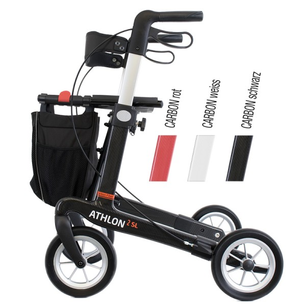 rahm Athlon² SL Carbonrollator Large in Weiß